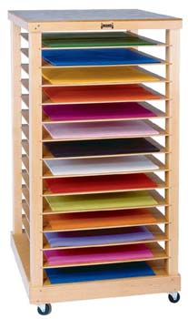 Easels Art Display And Art Supply Storage For Daycares