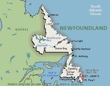 AREA AND ATTRACTION LISTINGS Newfoundland