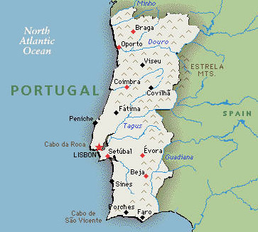 Portugal Hotels And Resorts - Portugal map resorts