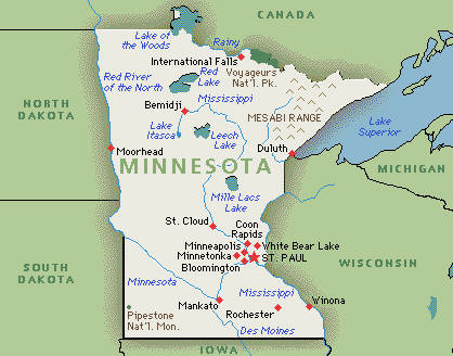 Worksheet. minnesota state map  Map of the World