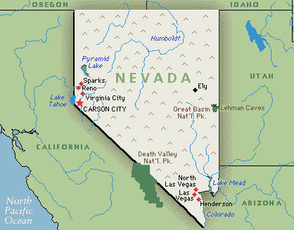 Nevadas State Animal Is A Big Horn Sheep ThingLink - Nevada on the us map