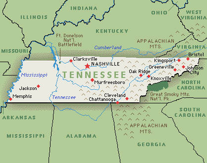 Neidert Blog Tennessee State Map - Map of state of tennessee