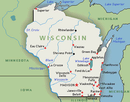 Wisconsin Hotels And Resorts Hotel Fun Kids - Wisconsin state map of us